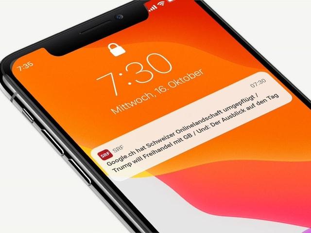 Mobiltelefon-Bildschirm