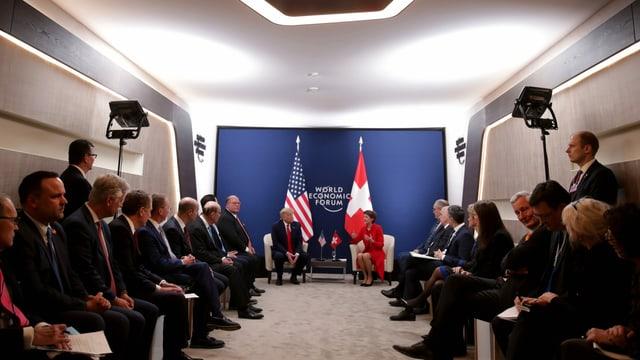 US- und Schweizer Delegation