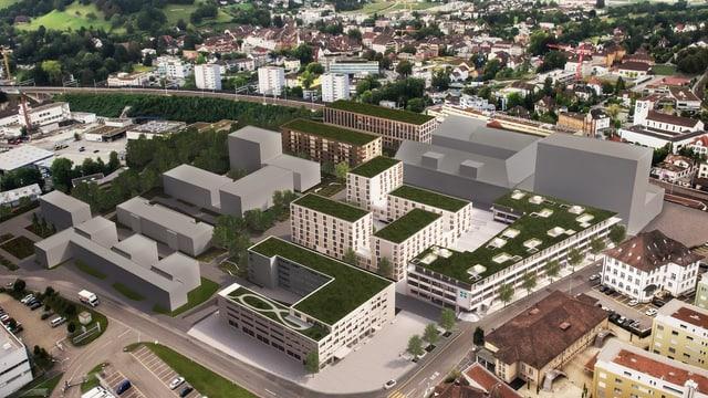 Visualisierung des neuen Lenzburger Stadtteils.