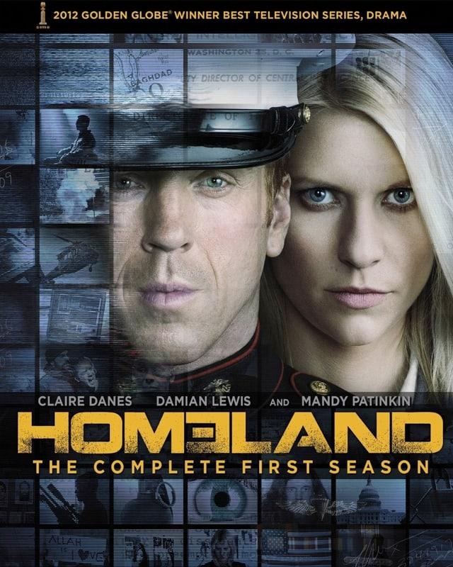 Das offizielle Plakat der preisgekrönten Serie Homeland.