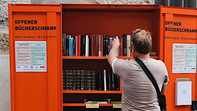 «Offenener Bücherschrank» in der Solothurner Altstadt.