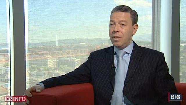 Screenshot von Pierre-Condamin Gerbier aus einem TV-Beitrag von Radio Television Suisse Romande.