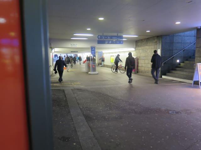 Unterführung im Bahnhof Wil
