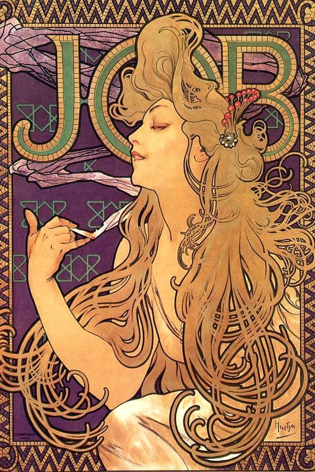 Werbeplakat von Alphonse Mucha (1860-1939)