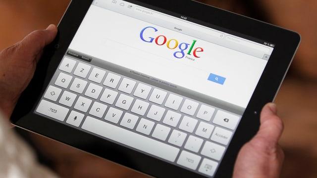 Google-Suche auf einem Ipad: