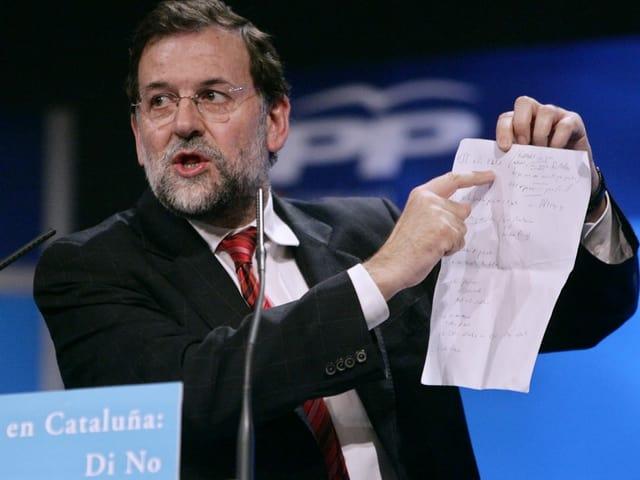 Mariano Rajoy während einer Rede im Juni 2006.