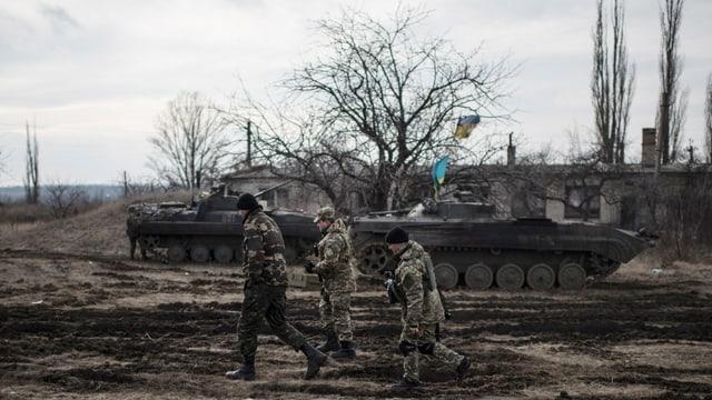 Ukrainische Panzer.