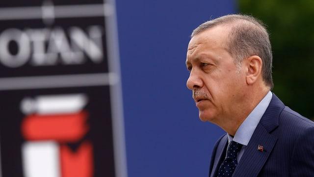 Recep Tayyip Erdogan am Nato-Gipfel in Polen 2016