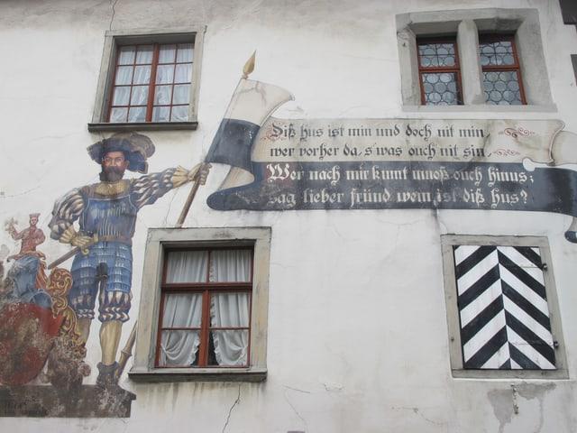 Wandmalerei am Doktorhaus in Werdenberg