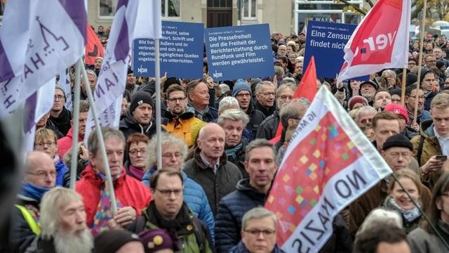 Gegendemonstranten in Hannover.