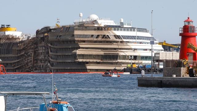 Wrack der Costa Concordia.