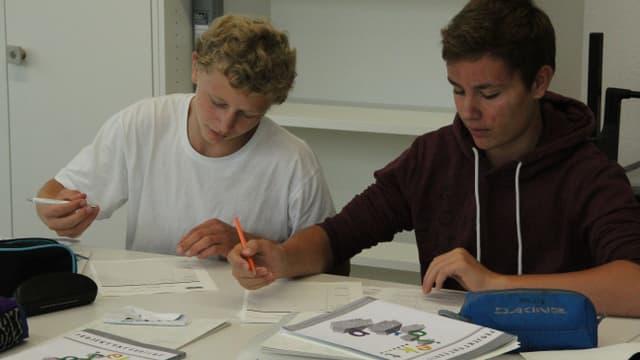 Noel (links) und Mauro aus Sursee LU