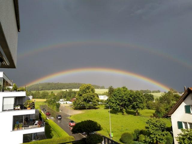 Doppelter Regenbogen.