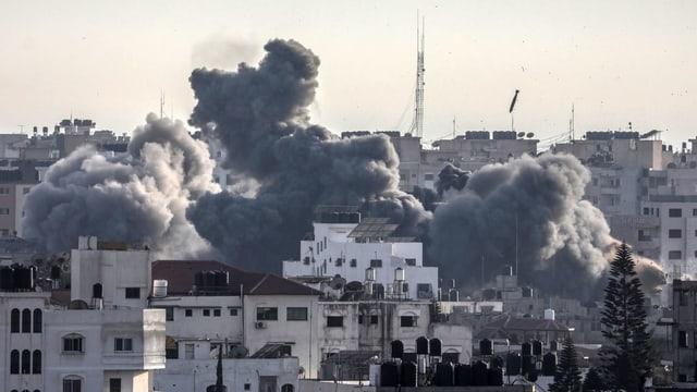 Rauchwolken über Gaza