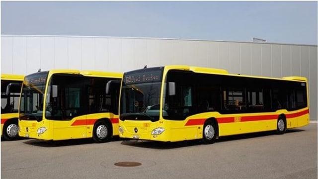 Fahrzeuge der Autobus AG Liestal