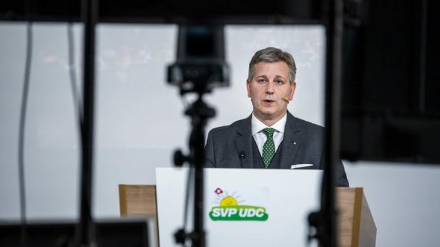 Marco Chiesa, president da la PPS Svizra.