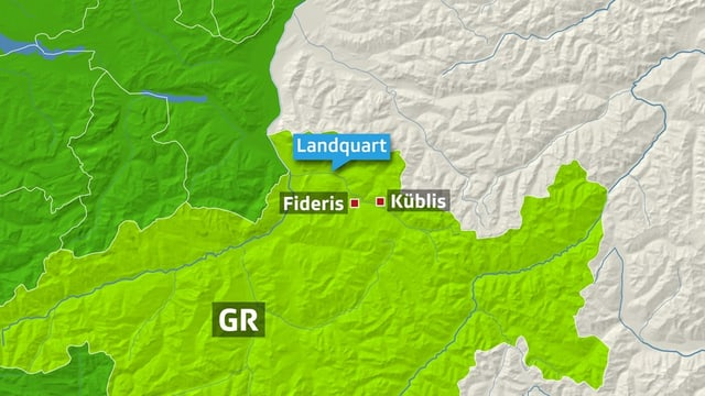 L'emprima da duas bartgas cun tschintg passagiers è cupitgada tranter Küblis e Fideris.