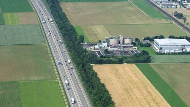 Luftaufnahme Autobahn A1