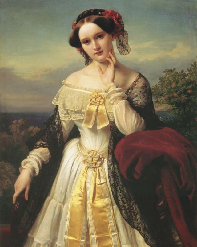 Gemälde von Mathilde Wesendonck.