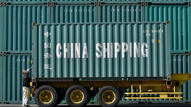 Ein Container mit der Aufschrift «China Shipping»