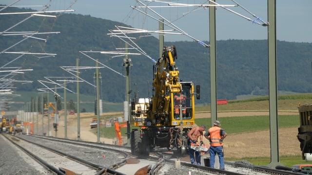 Ein Teil der Bahnstrecke zwischen Erzingen und Schaffhausen ist bereits elektrifiziert.