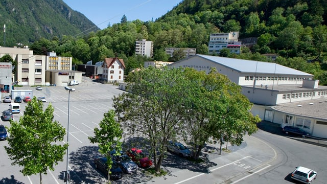 Die Stadthalle in Chur.