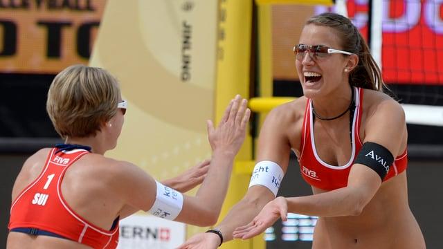 Tanja Hüberli und Tanja Govricanec am World Tour Open in Luzern.