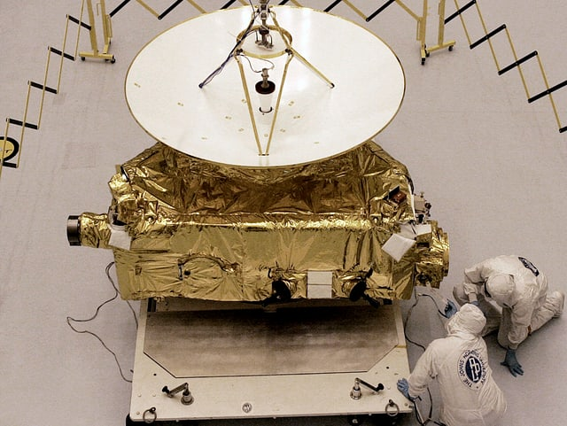 Die Sonde «New Horizons» im Kennedy Space Center in Cape Canaveral im November 2005.