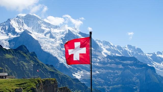 Schweizer Fahne.