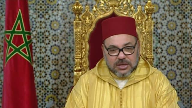 Mohammed VI. während einer Rede.