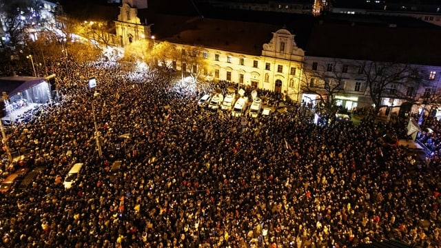 Proteste in Bratislava vor einem Jahr.