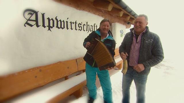 Video «Skihütten Spezial – Tag 5 – Alpwirtschaft Steigadä, Unteriberg» abspielen