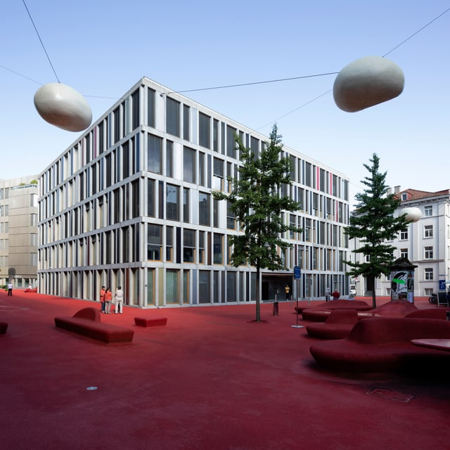 Der Raiffeisenplatz in St. Gallen.