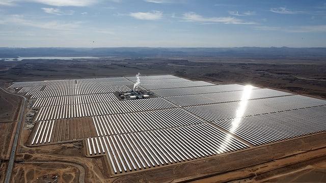 Solar-Park in Marokko.