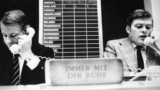 Hektik an der Frankfurter Börse