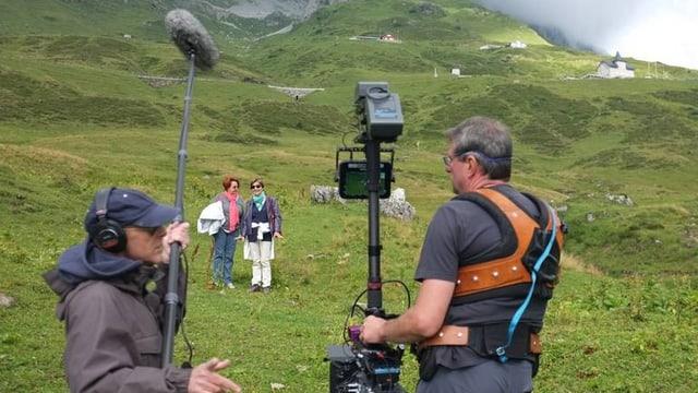 Ein Filmteam bei der Arbeit