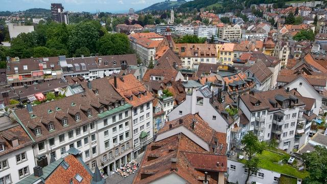 Stadt St. Gallen von oben