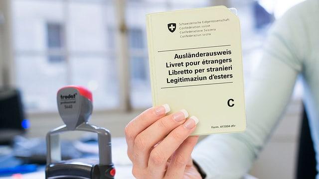 Ausländerausweis und Stempel