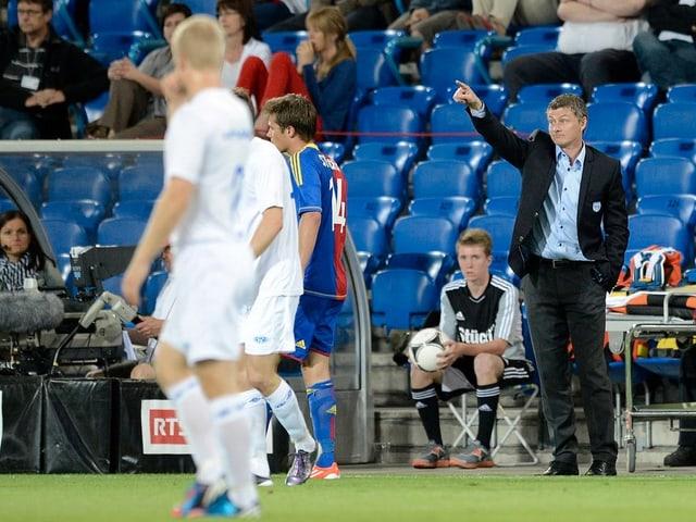 Ole Gunnar Solskjaer als Trainer von Molde im Jahr 2012.