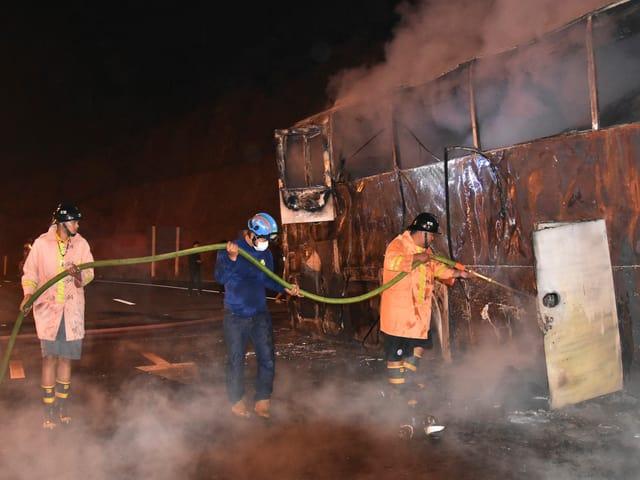 Busbrand in Thailand.