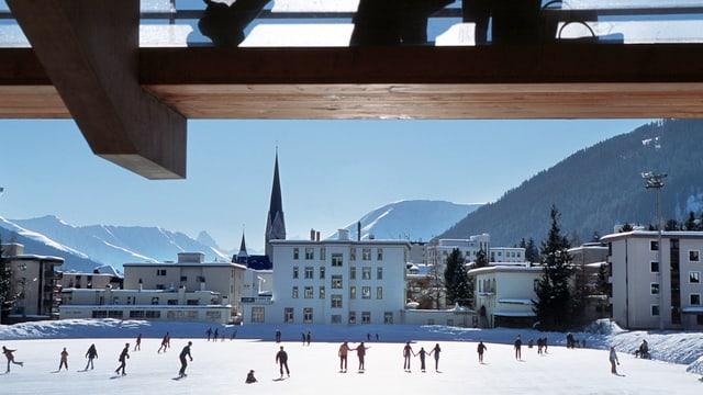 Eisbahn von Davos