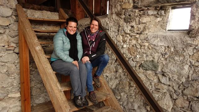 Niki Wiese (sanester) e Linda Netzer dal project Anim. Betg sin la foto: Flo Wieser.
