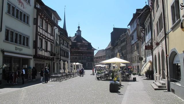 Der Steiner Rathausplatz.