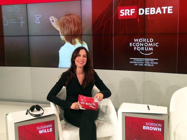 Susanne Wille moderiert die SRF-Debatte am WEF