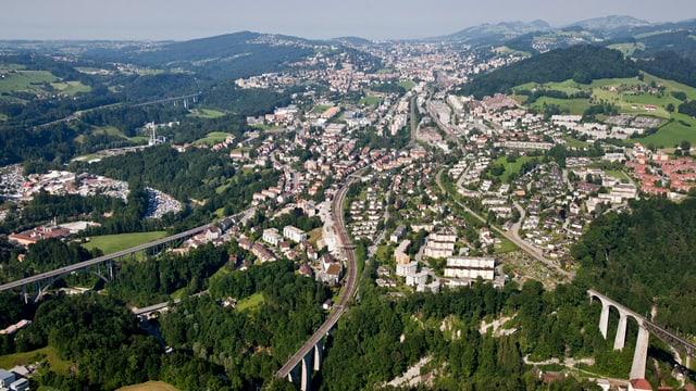 St. Gallen aus der Vogelperspektive