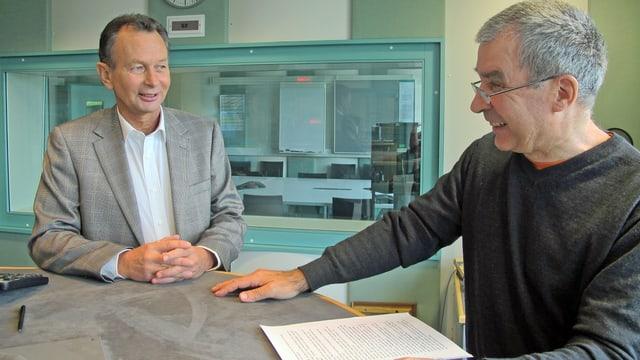 Phillip Müller im Gespräch mit dem Regionaljournal Chefredaktor Andreas Capaul.
