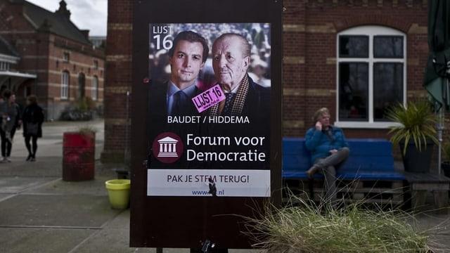 Wahlplakat des Forums für Demokratie vom März 2019.