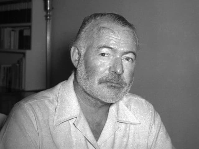 Porträt des Schriftstellers Ernest Hemingway