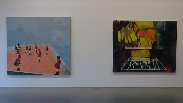Zwei Gemälde.