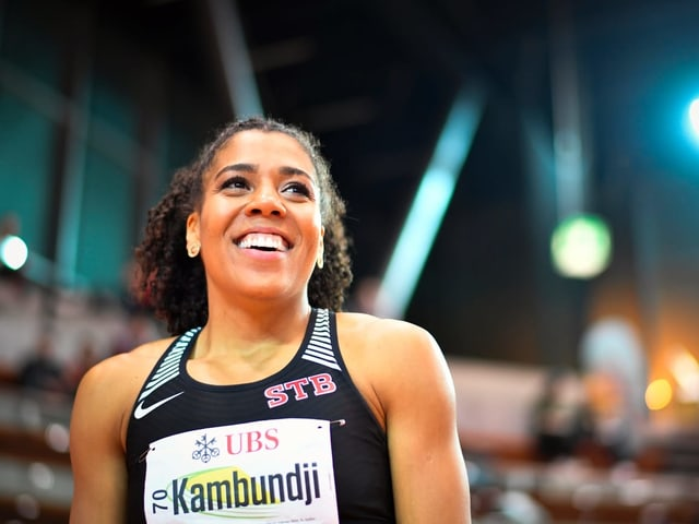 Sprinterin Mujinga Kambundji.